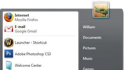 Screenshot of Windows Vista with Gmail as Default Email Program